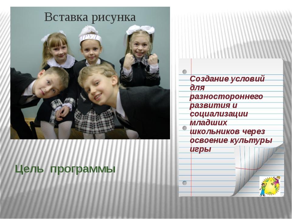 Цель программы Содействие успешной социализации обучающихся через освоение ку...