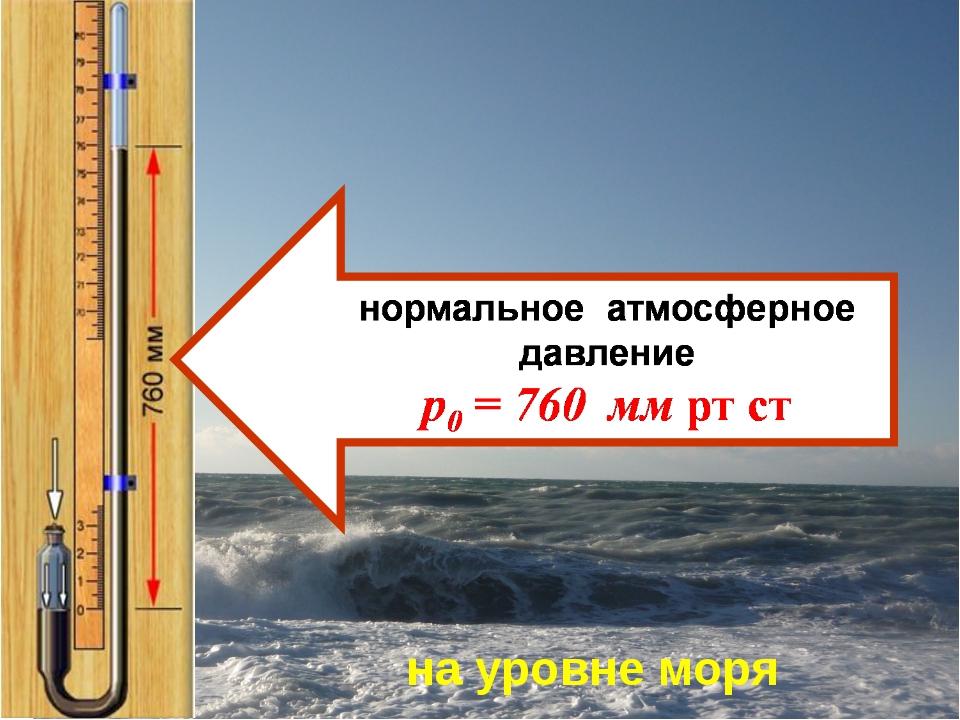 на уровне моря