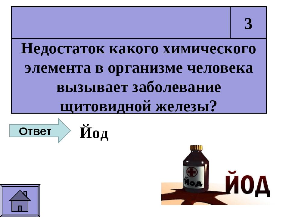Недостаток какого химического элемента в организме человека вызывает заболева...