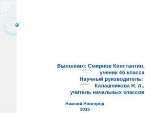 Муниципальное бюджетное образовательное учреждение «Школа № 111» Автозаводско