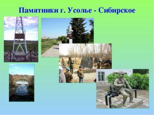 Памятники г. Усолье - Сибирское