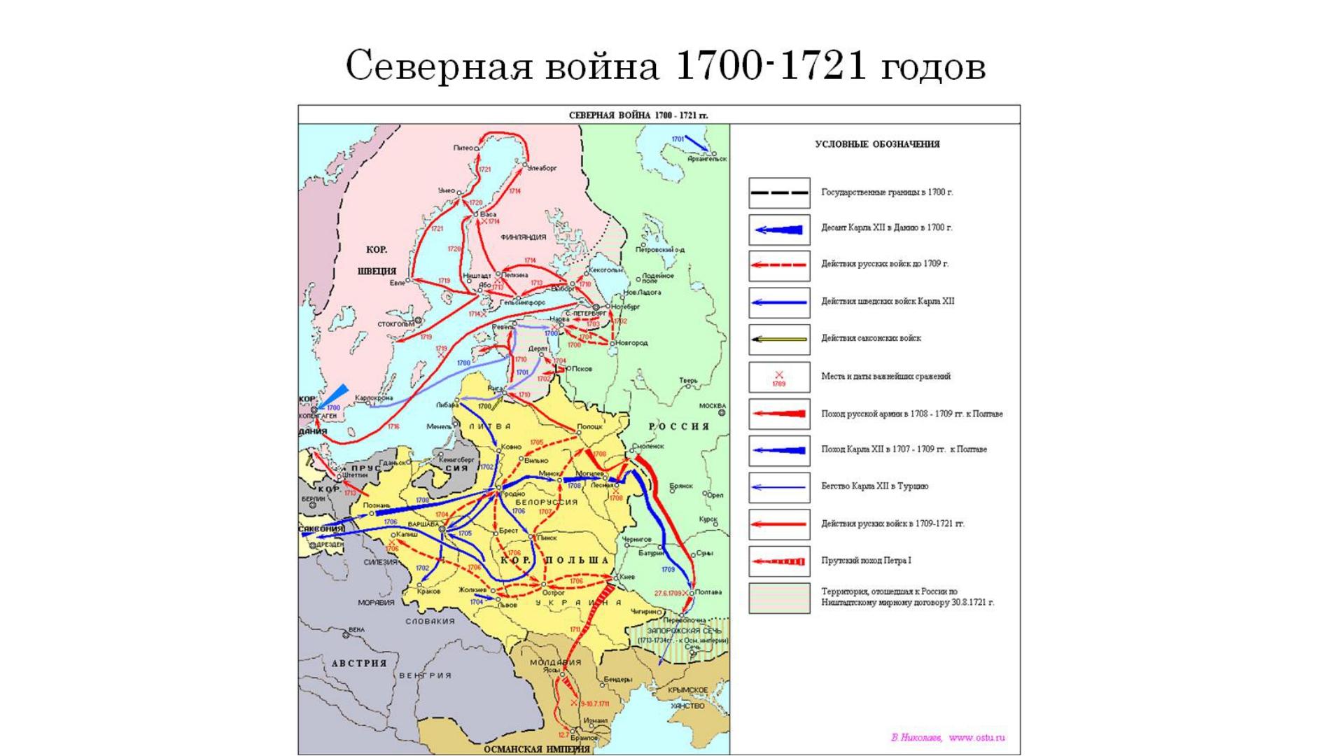 Северная война 1700-1721 годов