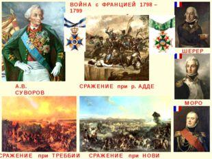 ВОЙНА с ФРАНЦИЕЙ 1798 – 1799 ИТАЛЬЯНСКИЙ ПОХОД А.В. СУВОРОВ ШЕРЕР МАКДОНАЛЬД