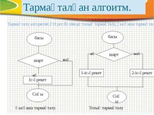 Тармақталу алгоритмі 2 түрге бөлінеді: толық тармақталу, қысқаша тармақталу.