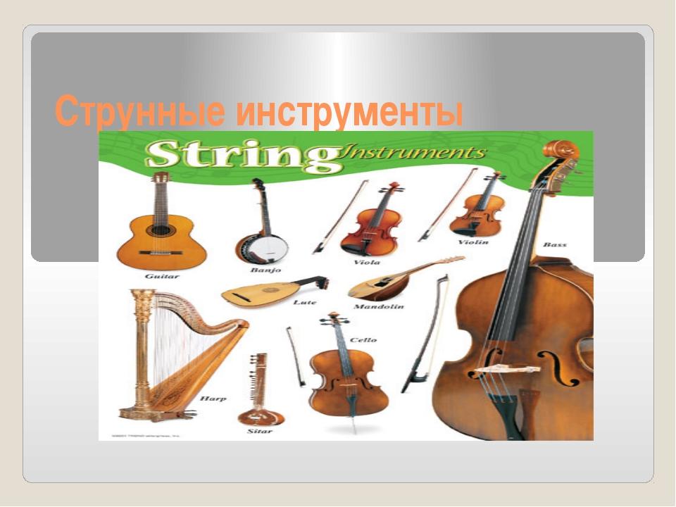 Струнные инструменты