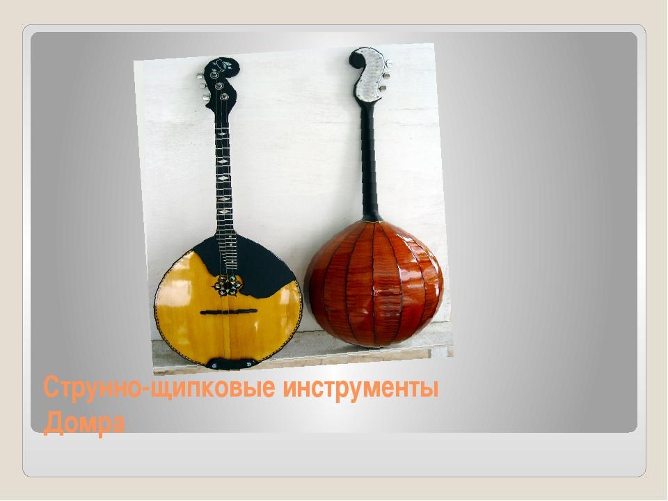 Струнно-щипковые инструменты Домра
