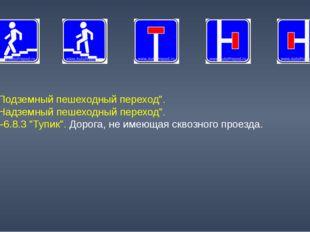 """6.6 """"Подземный пешеходный переход"""". 6.7 """"Надземный пешеходный переход"""". 6.8.1"""