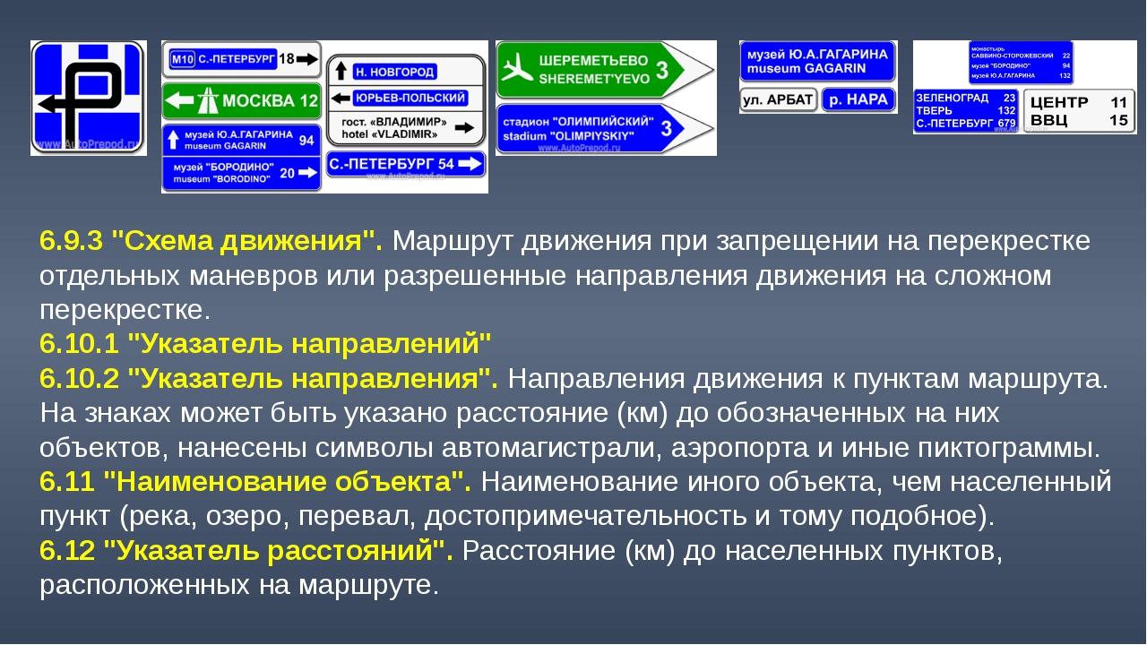 """6.9.3 """"Схема движения"""". Маршрут движения при запрещении на перекрестке отдель..."""