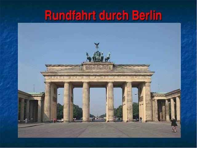 Rundfahrt durch Berlin
