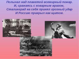 Полыхал над планетой всемирный пожар. И, сражаясь с коварным врагом, Сталингр