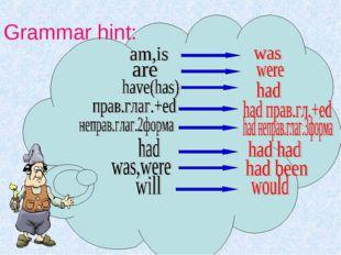 Grammar hint: