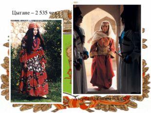 Цыгане – 2 535 чел. Азербайджанцы – 1 679 чел.