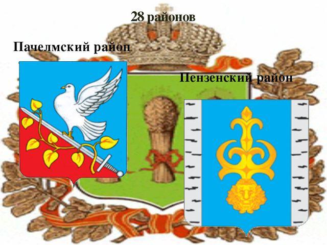 28 районов Пачелмский район Пензенский район