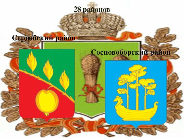 28 районов Сердобский район Сосновоборский район