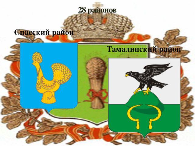 28 районов Спасский район Тамалинский район