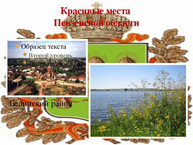 Красивые места Пензенской области Белинский район
