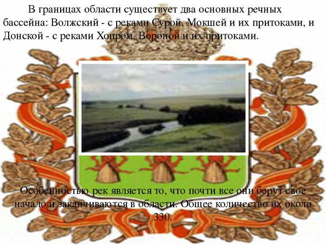 В границах области существует два основных речных бассейна: Волжский - с рек...
