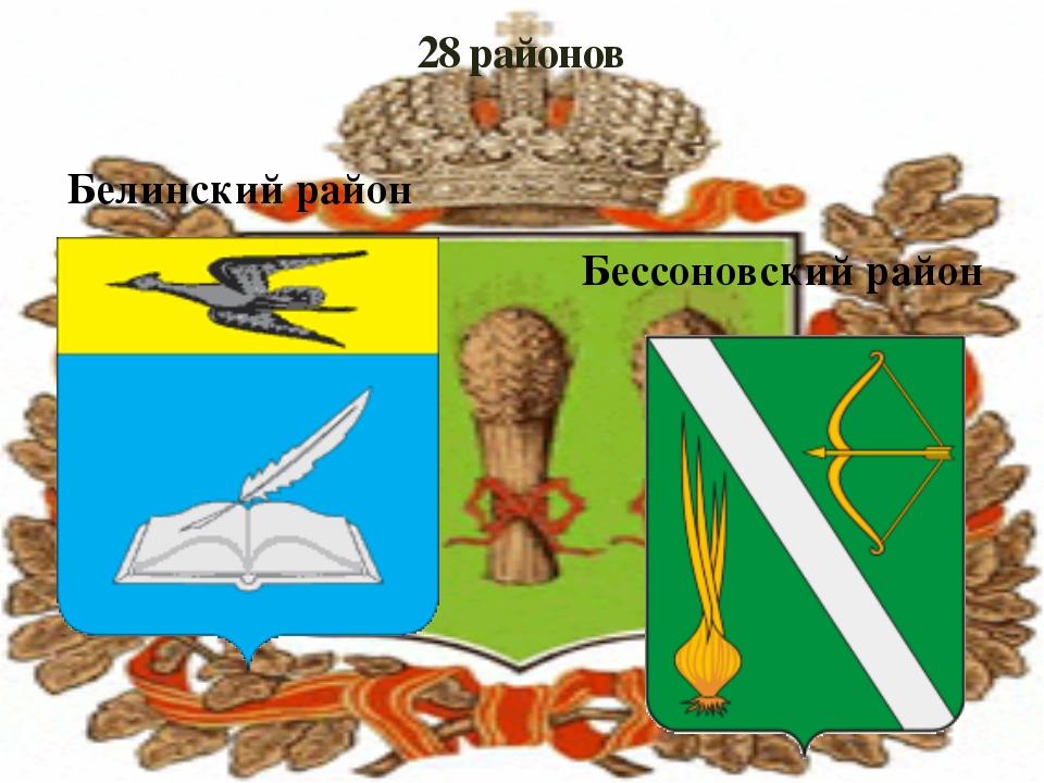 28 районов Белинский район Бессоновский район