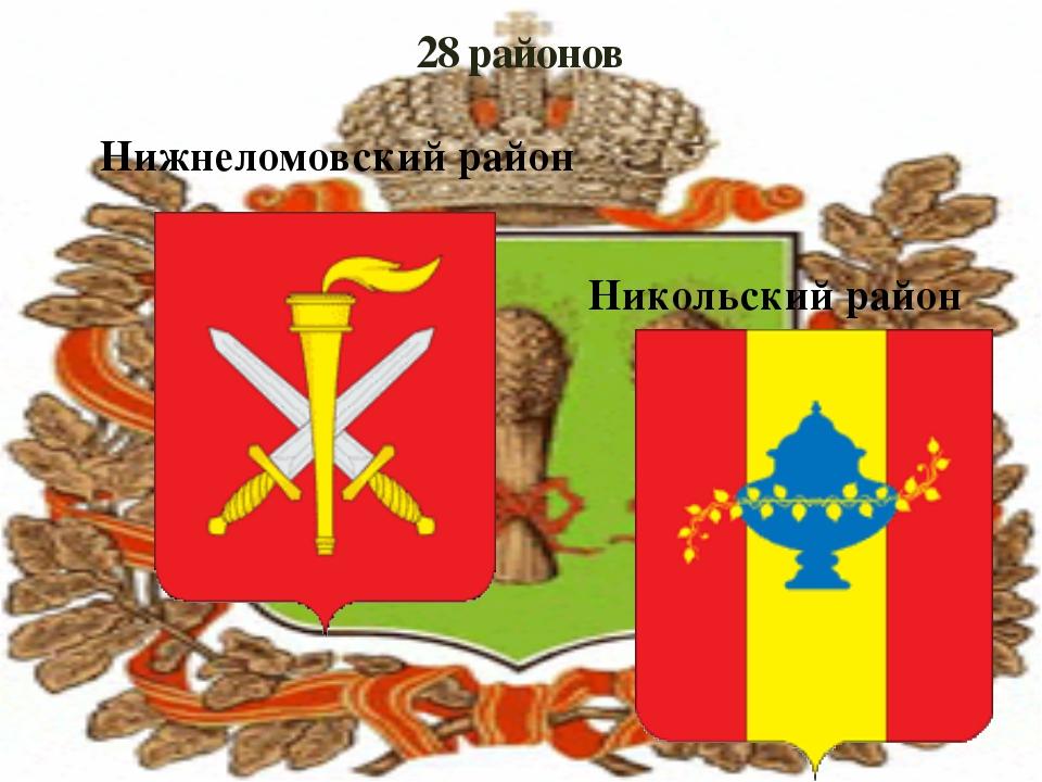 28 районов Нижнеломовский район Никольский район