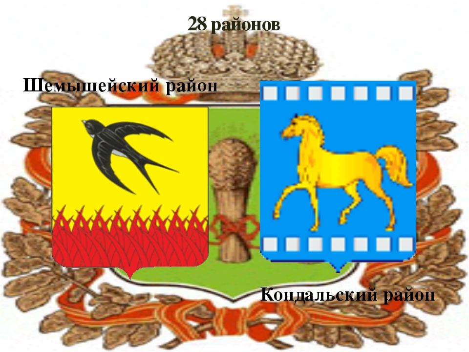 28 районов Шемышейский район Кондальский район