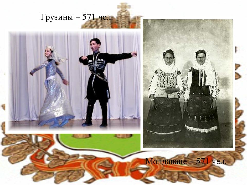 Грузины – 571 чел. Молдаване – 571 чел.