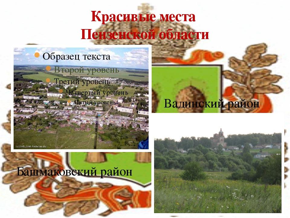 Красивые места Пензенской области Башмаковский район Вадинский район