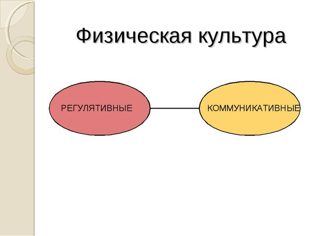 Физическая культура КОММУНИКАТИВНЫЕ РЕГУЛЯТИВНЫЕ