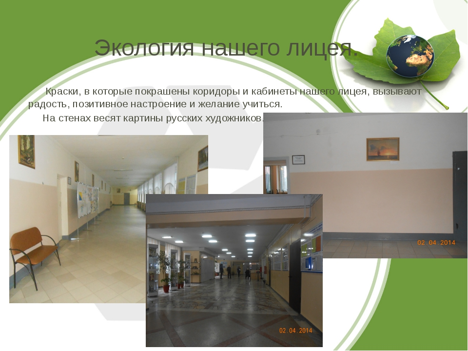 Экология нашего лицея. Краски, в которые покрашены коридоры и кабинеты нашего...