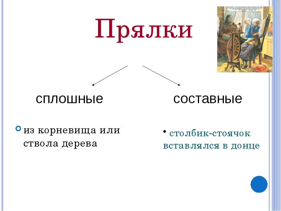 столбик-стоячок вставлялся в донце Прялки из корневища или ствола дерева спл...
