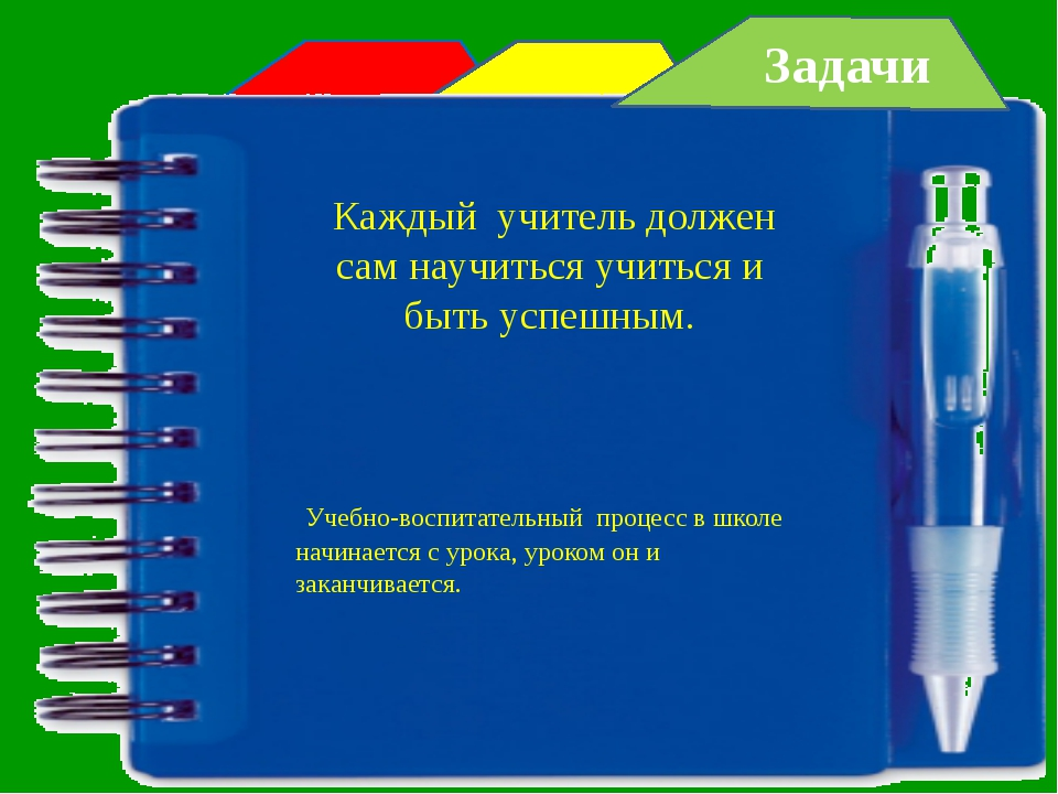 Задачи Каждый учитель должен сам научиться учиться и быть успешным. Учебно-в...