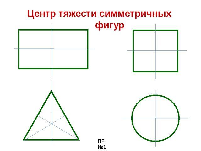 Центр тяжести симметричных фигур ПР №1
