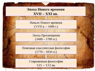 Эпоха Нового времени XVII – XXI вв. Начало Нового времени (XVII в. – 1688 г.