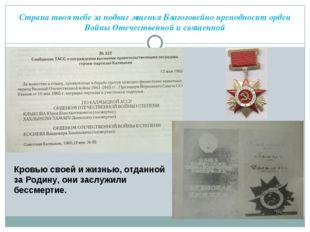 Страна твоя тебе за подвиг мщенья Благоговейно преподносит орден Войны Отечес