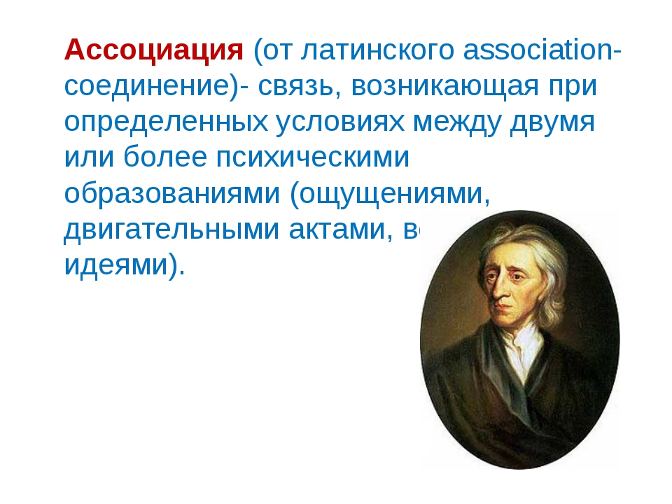 Ассоциация (от латинского аssociation- соединение)- связь, возникающая при о...