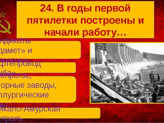 В. Днепрогэс, Тракторные заводы, металлургические заводы. А. Синдикаты «Прод...