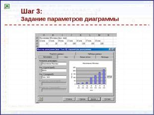 Шаг 3: Задание параметров диаграммы