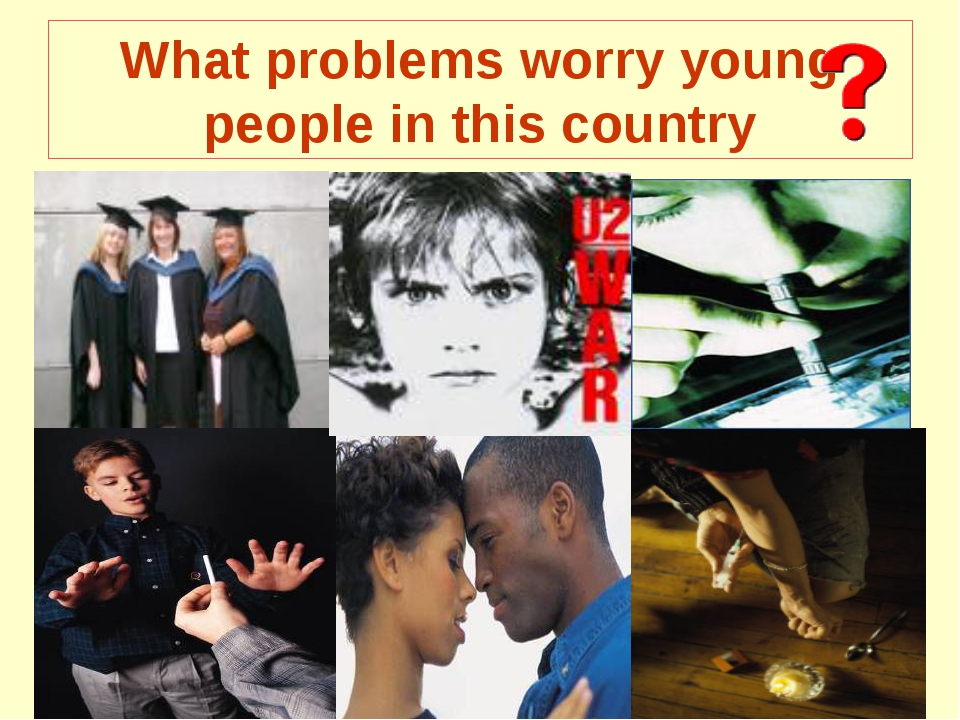 What problems worry young people in this country