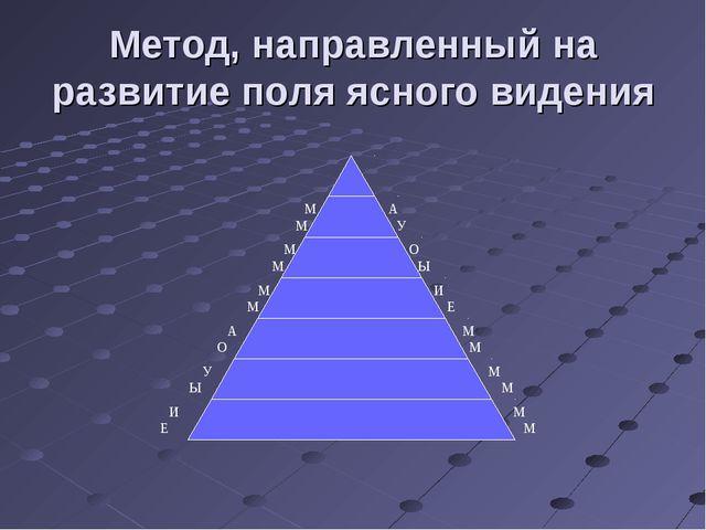 Метод, направленный на развитие поля ясного видения