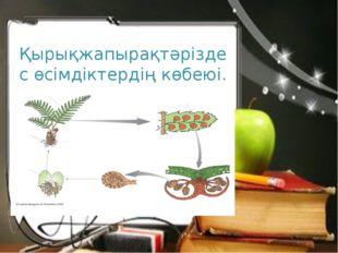 Қырықжапырақтәріздес өсімдіктердің көбеюі.