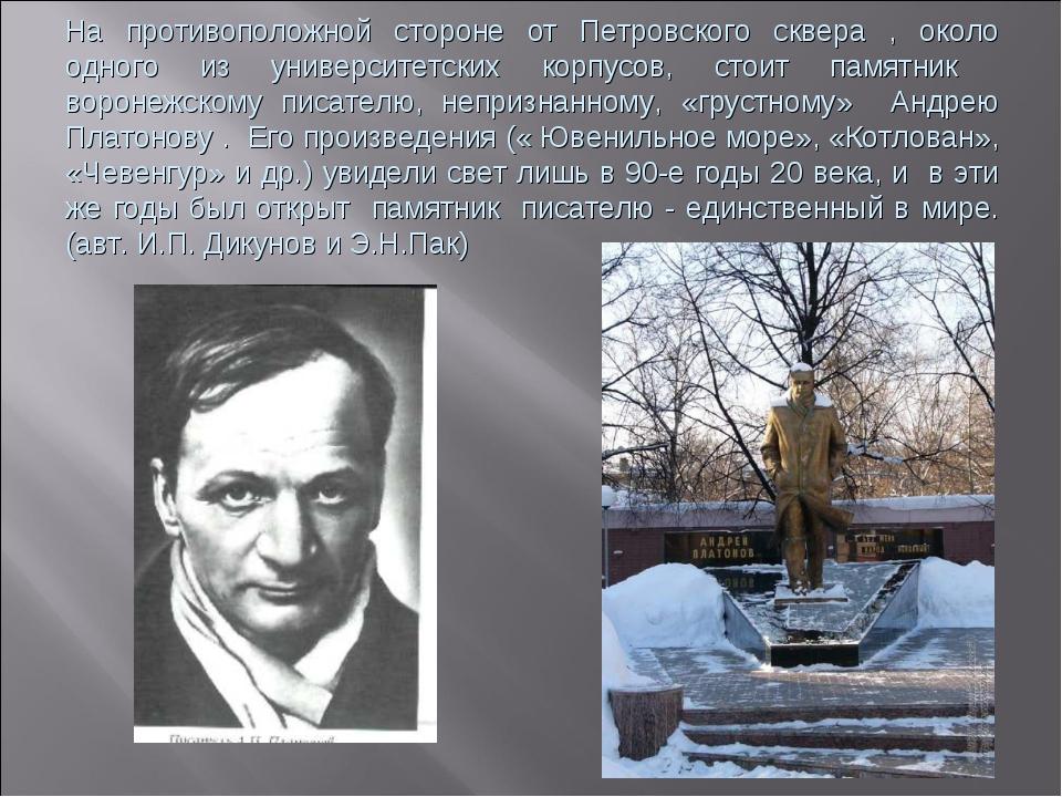 На противоположной стороне от Петровского сквера , около одного из университе...