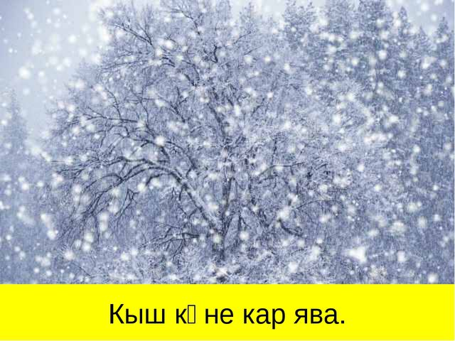Кыш көне кар ява.