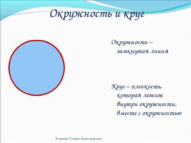Конспект урока по математике 5 класс окружность круг
