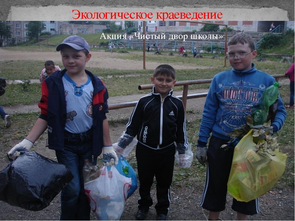 Экологическое краеведение Акция «Чистый двор школы»
