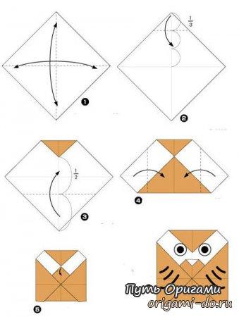 Детские схемы оригами по сборке птиц