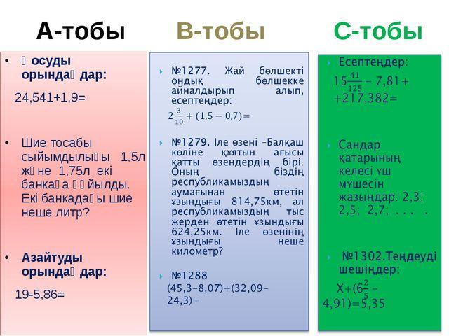 Қосуды орындаңдар: 24,541+1,9= Шие тосабы сыйымдылығы 1,5л және 1,75л екі бан...