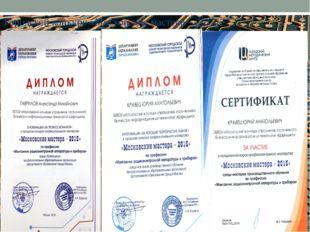 Городской конкурс «Московские мастера – 2015»