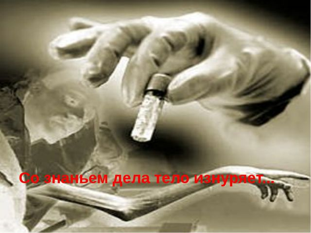 Со знаньем дела тело изнуряет...
