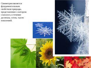 Симметрия является фундаментальным свойством природы, представление о которо