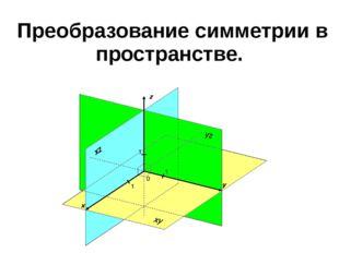 Преобразование симметрии в пространстве.