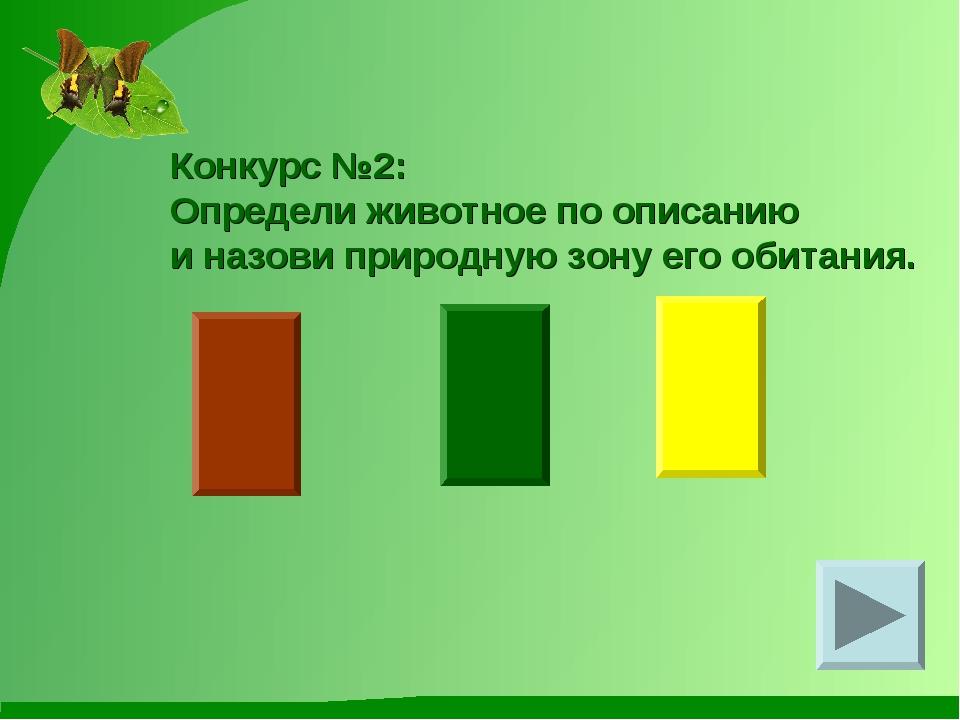 Конкурс №2: Определи животное по описанию и назови природную зону его обитания.